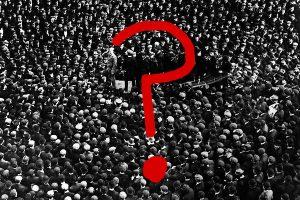 crowd question mark