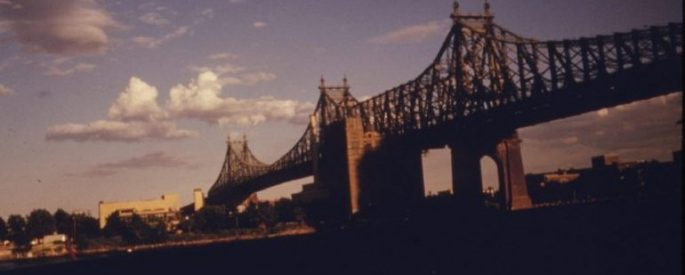 59th Street Bridge Seen From the East Side Drive Manhattan