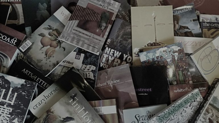 A pile of literary magazines and reviews