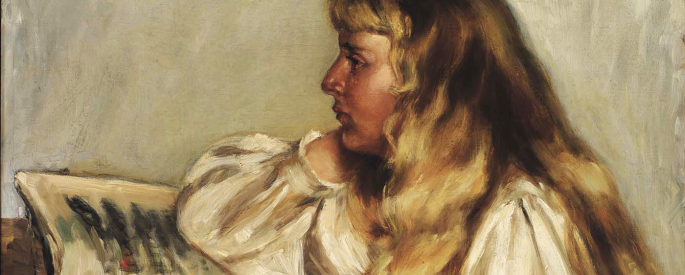 A painting of Natalie Barney by her sister Alice.
