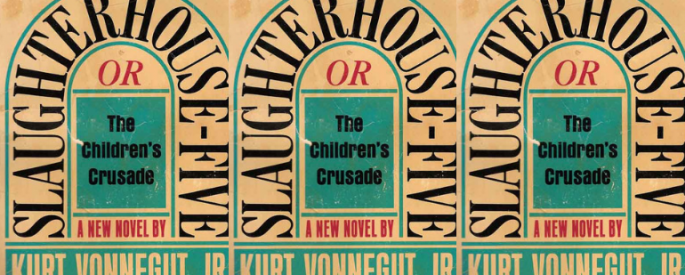 The cover of Slaughterhouse Five side by side.