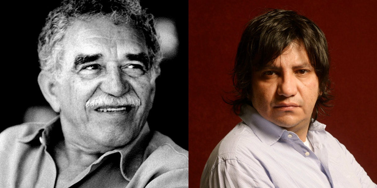 Side by side pictures of Gabriel García Márquez and Alejandro Zambra