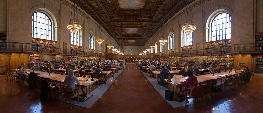 Picture of the interior of the New York Public Library.