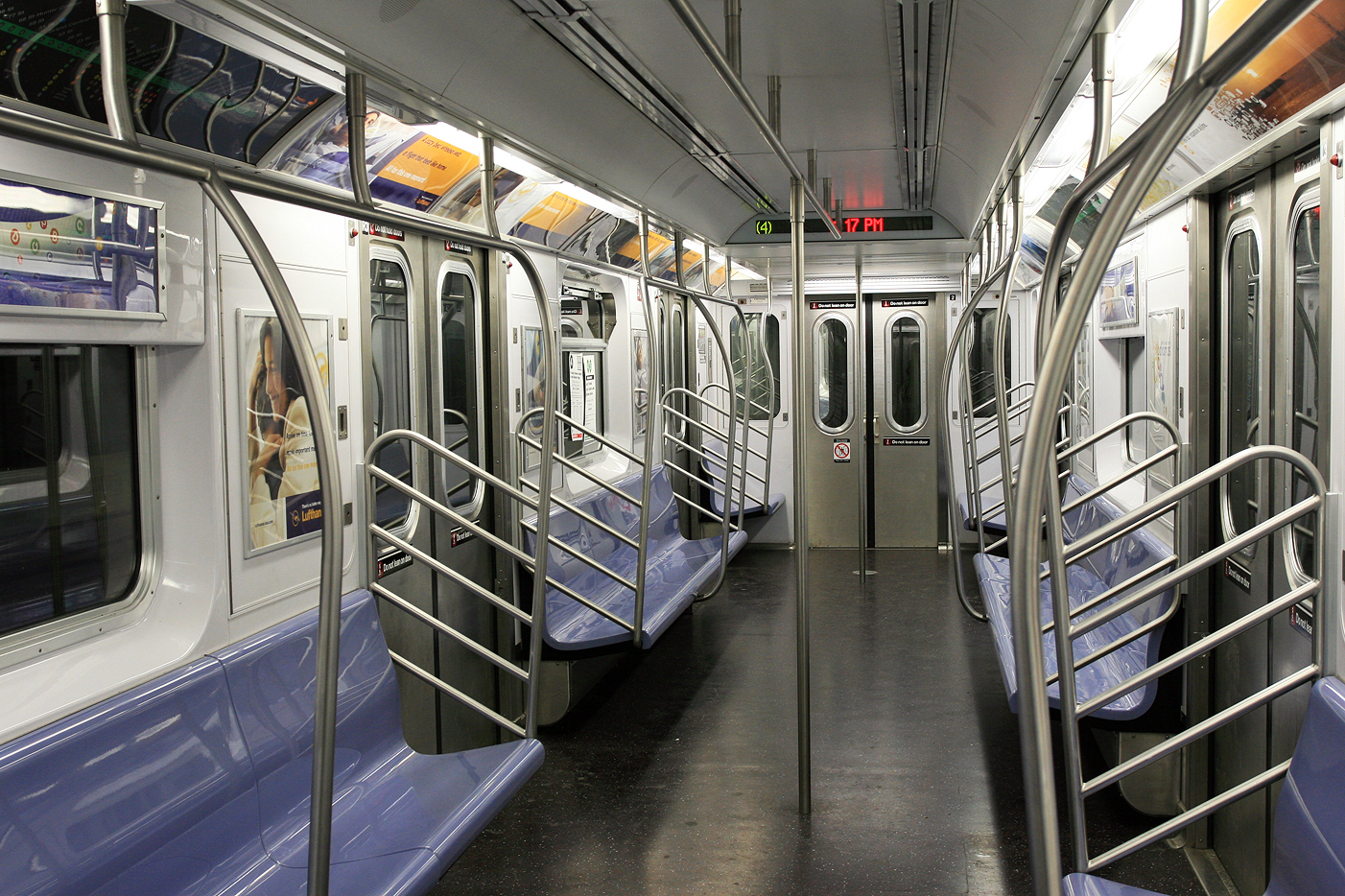 Picture of an empty NYC subway