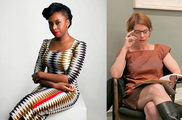 Side by side pictures of Chimamanda Ngozi Adichie and Maud Casey