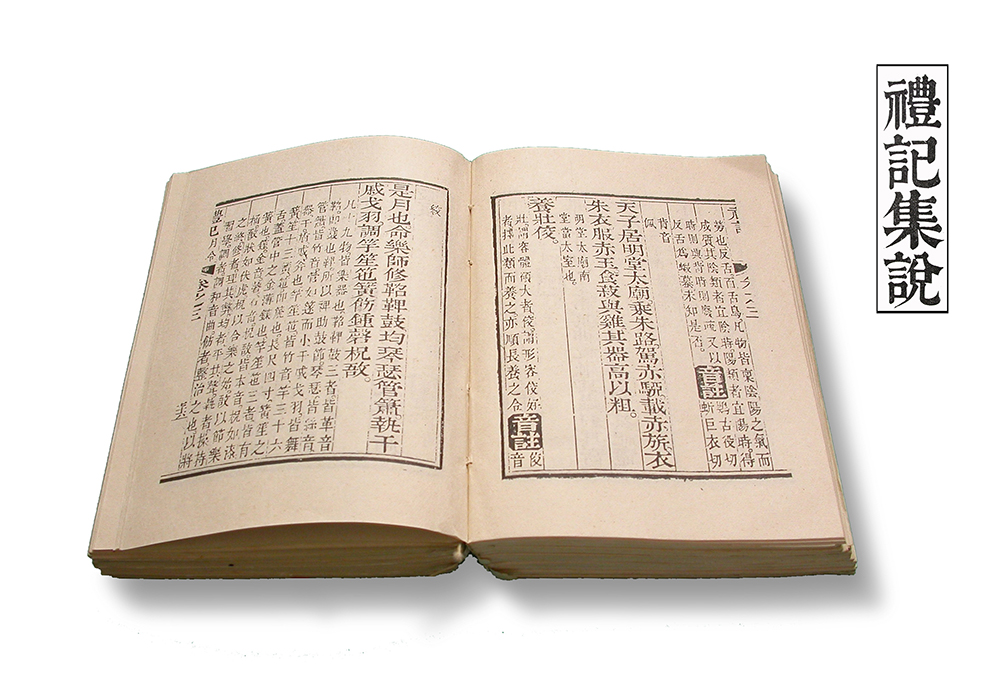 Picture of an old book in Chinese open in the middle