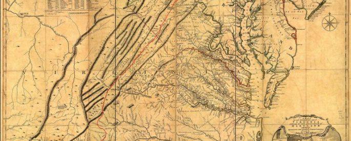 vintage viginia map