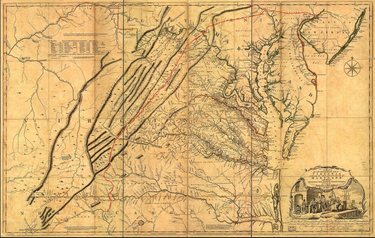 Picture of an old railroad map