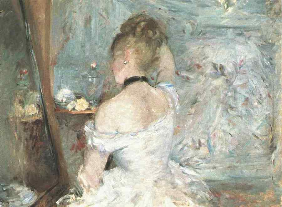 painting titled Lady at her Toilette