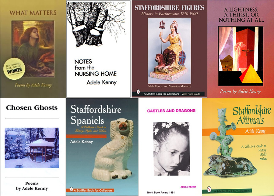 Collage of Adele Kenny's book covers