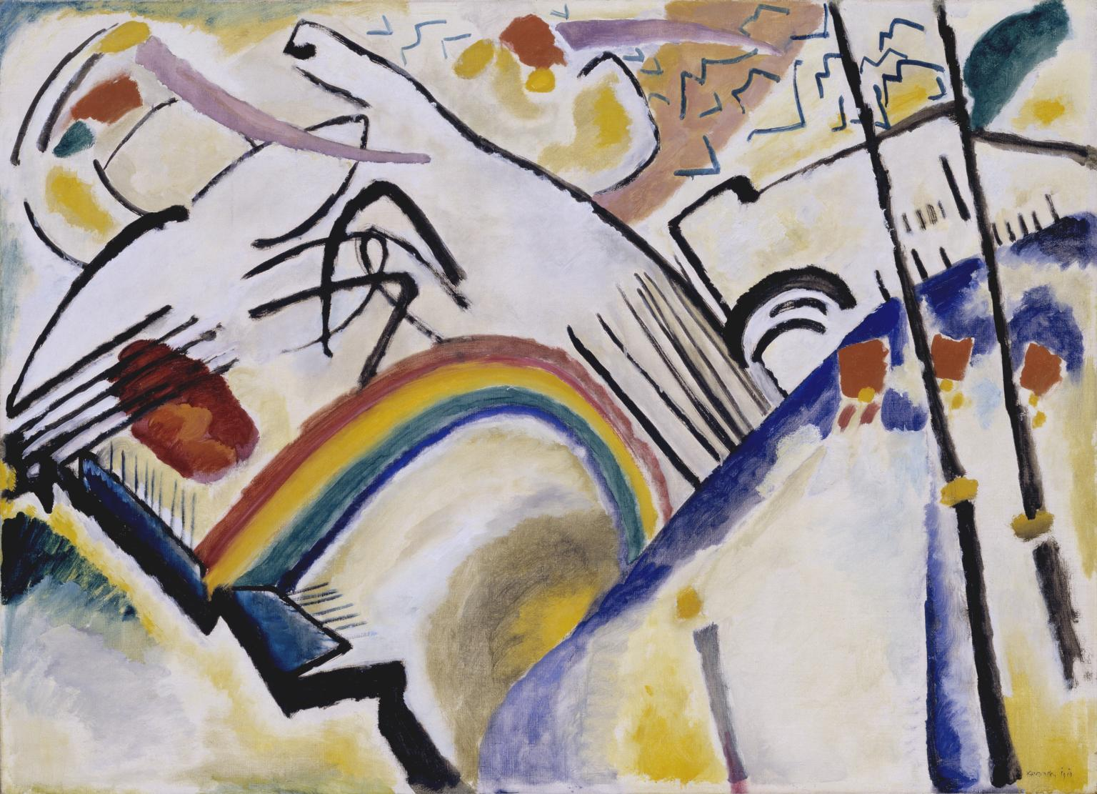 Abstract art piece by Wassily Kandinsky (1866-1944) Presented by Mrs Hazel McKinley 1938