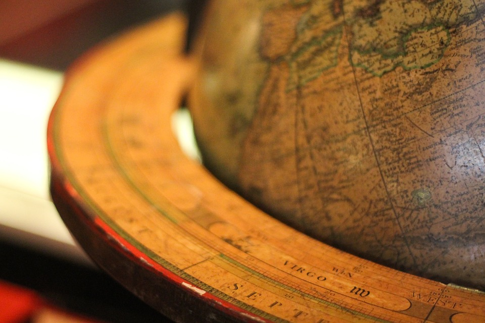 Close of picture of a globe