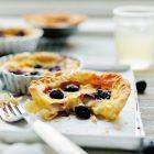 pie with berries beside fork
