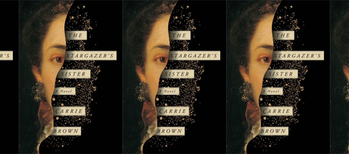Side by side images of the Stargazer's Sister book cover