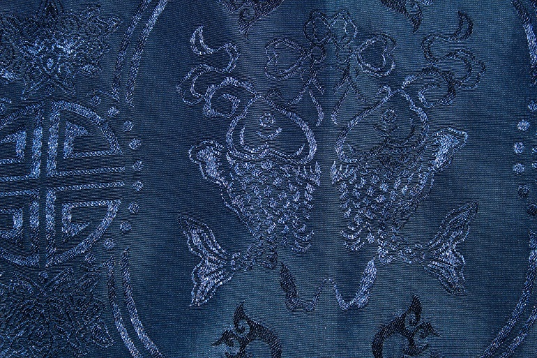 Close up picture of Traditional Chinese fabric