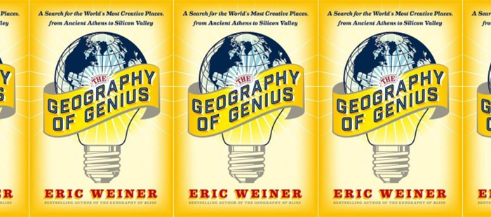 Side by side covers of Geography of Genius by Eric Weiner