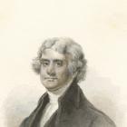 A sketch of Thomas Jefferson.