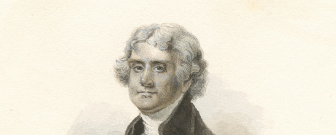 A sketch of Thomas Jefferson.