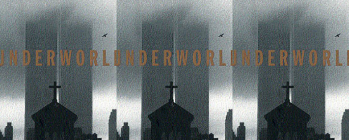 The cover of the book Underworld side by side.