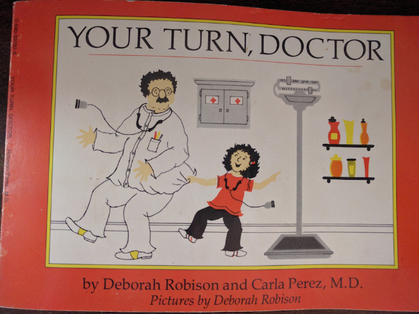 Picture of an worn illustrated book titled Your Turn, Doctor