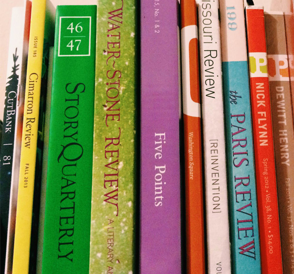 Picture of some colorful book spines.