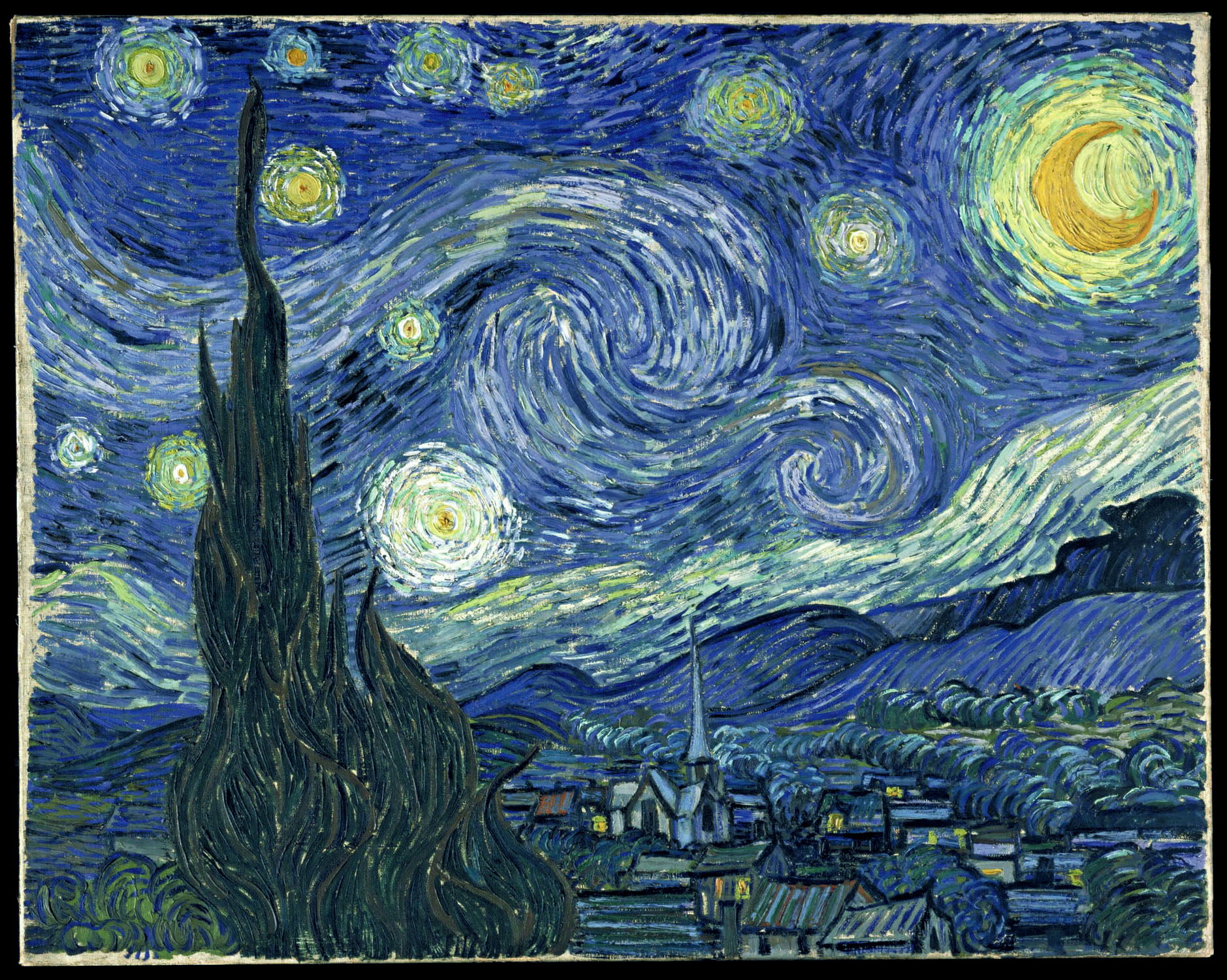 illustration of Van Gogh's Starry Night