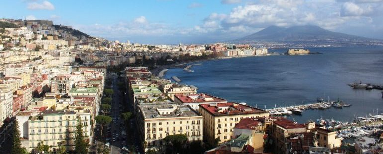 Aerial picture of the city of Naples.
