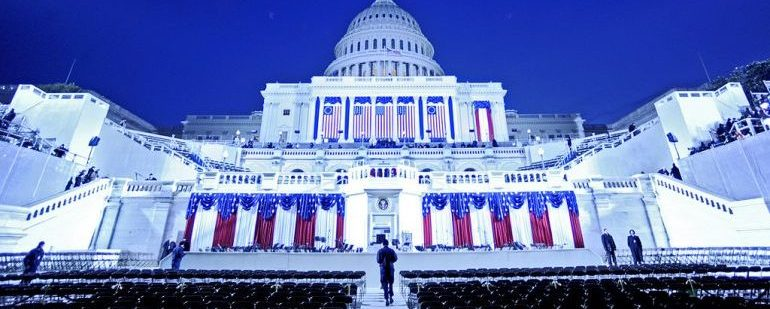 Picture of the U.S. Capitol before 2009 inauguration