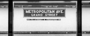 New York City Subway at Metropolitan Ave. and Green Street