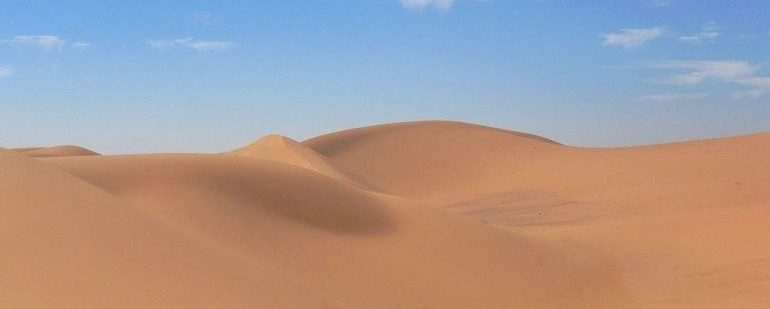 Picture of a desert dune.