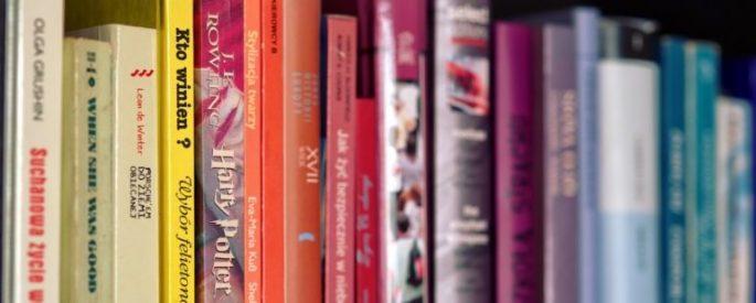 Harry Potter book on a shelf