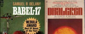Side by side covers of Babel-17 and Dhalgren