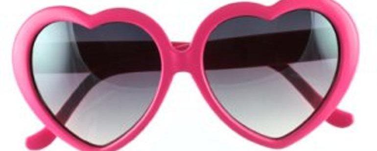 Heart-Shaped Pink Sunglasses