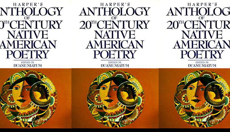 the book cover for the Harper's Anthology of 20th Century Native American Poetry