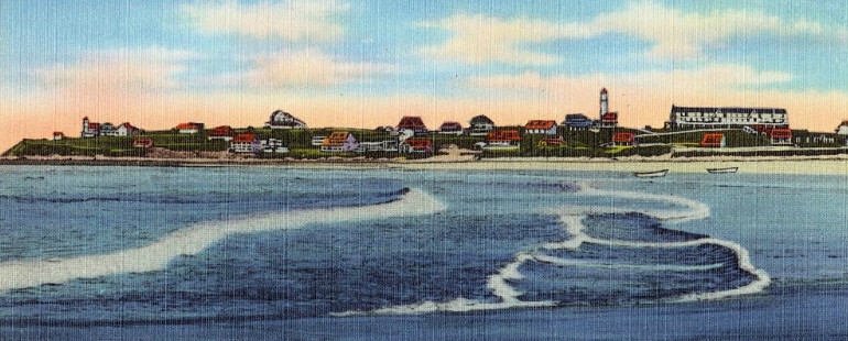 Vintage postcard of Manomet Point in Plymouth, Massachusetts
