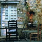 Patrick Leigh Fermor's desk at his house in Kardamyli, Greece