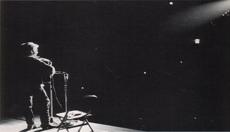 performer in spotlight