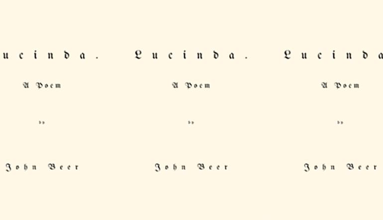 lucinda poem by John Beer