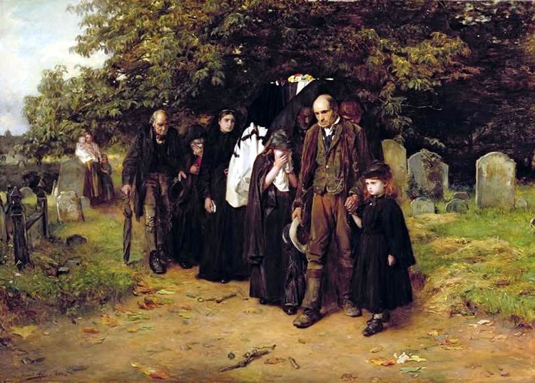 I am the Resurrection and the Life, or The Village Funeral, Frank Holl, 1872, Leeds City Art Gallery