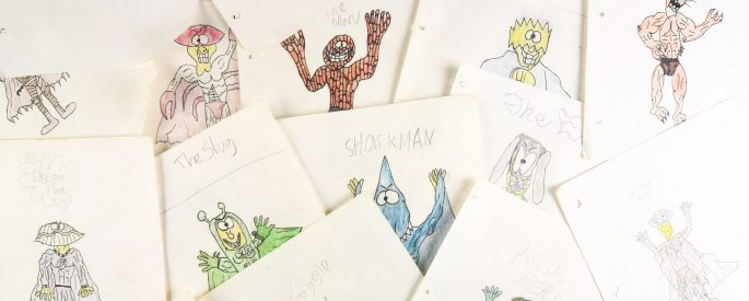 child drawings of monsters