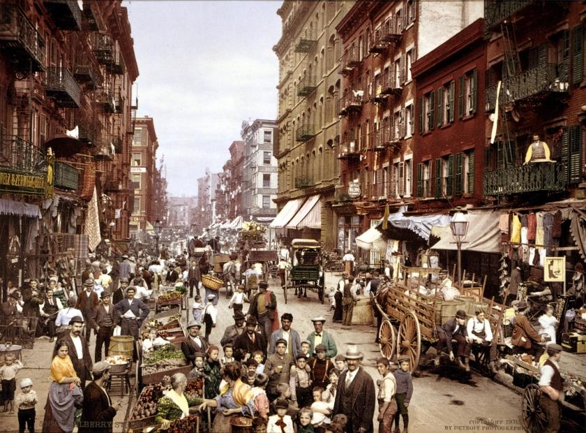 Mulberry Street, New York c.1900