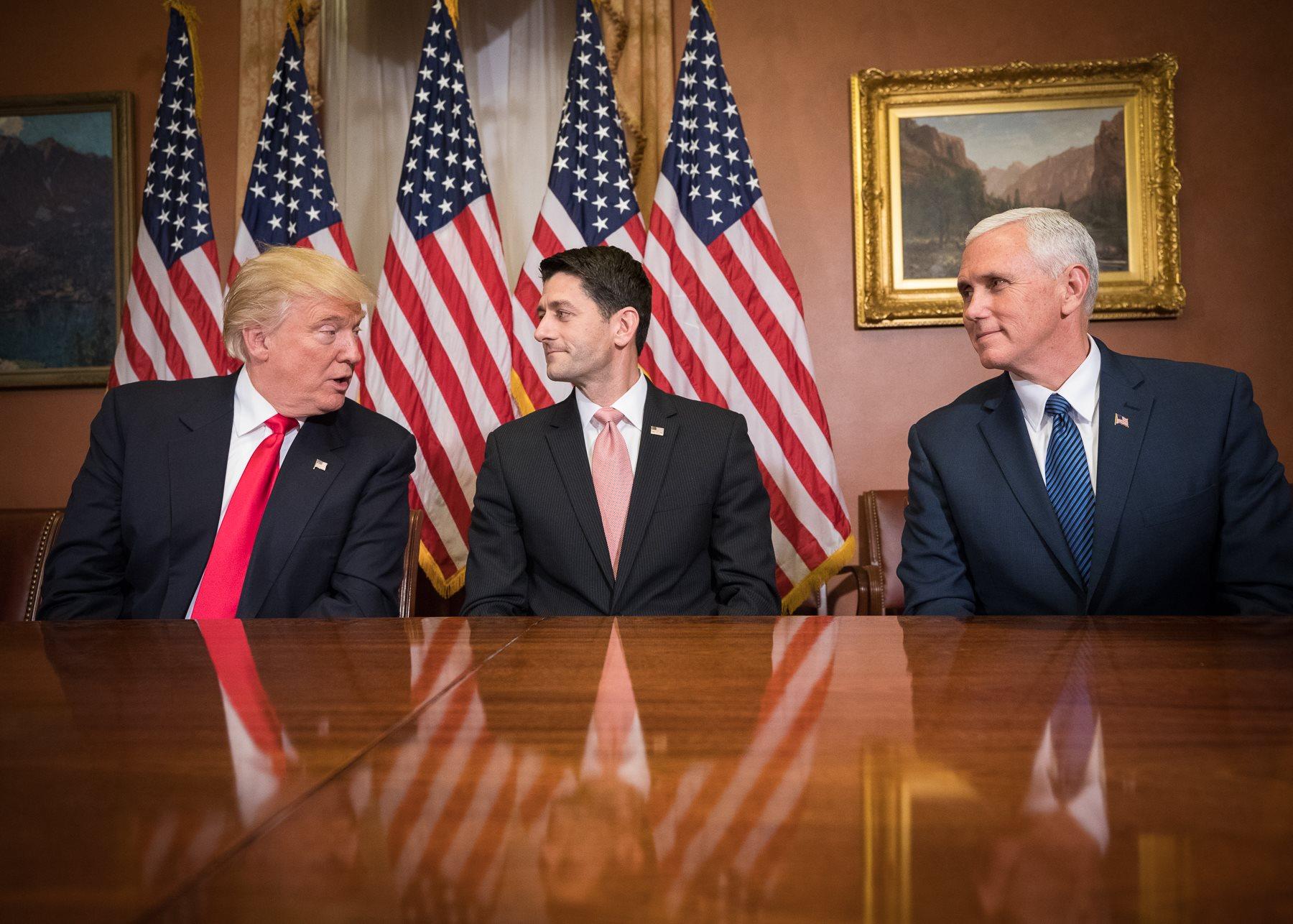 Donald Trump, Paul Ryan, and Mike Pence