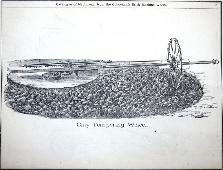 Illustration of a clay tempering wheel.