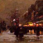 night-snow-city