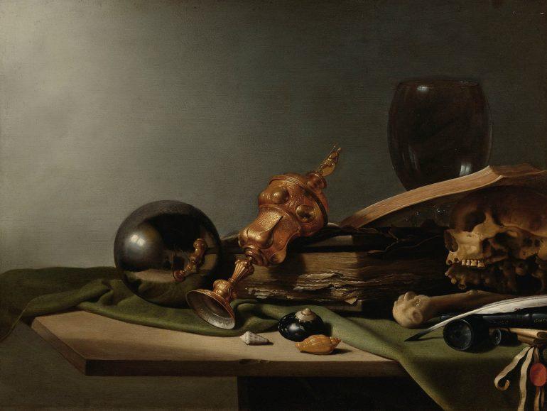 Vanitas - Still Life follower of Pieter Claeszoon 1634