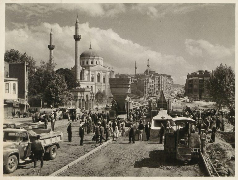 Road-building in Aksaray, 1950s