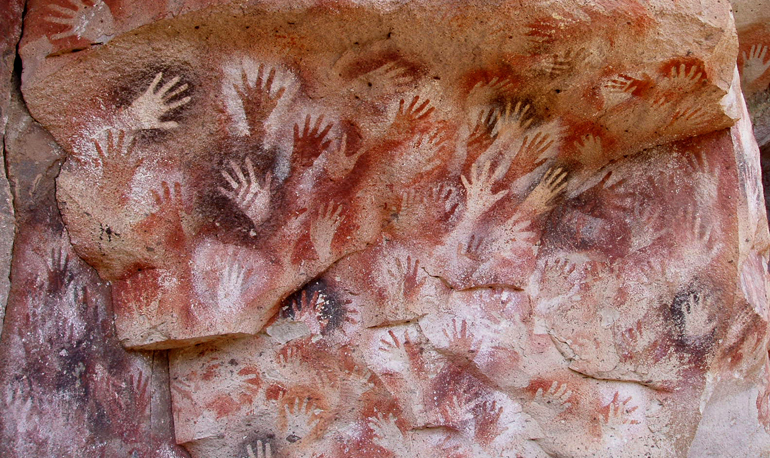 hand-cave-painting