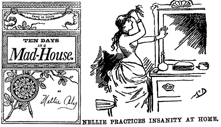 Cartoon sketch of a woman sitting at a vanity and doing her hair.