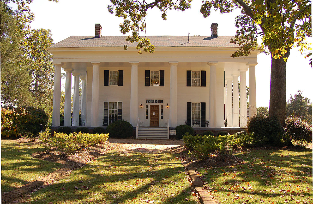 fancy house with white columns