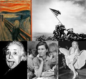Portraits of iconic art and artists.